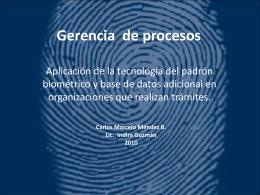 Gerencia de procesos