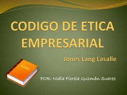 CODIGO DE ETICA EMPRESARIAL Jones Lang Lasalle