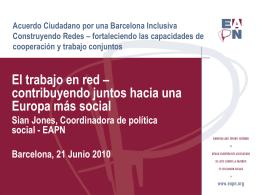 Acuerdo Ciudadano por una Barcelona Inclusiva …