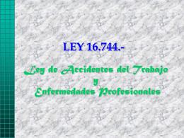 LEY 16.744 - RAMOS ON