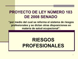PONENCIA PARA PRIMER DEBATE AL PROYECTO DE LEY …