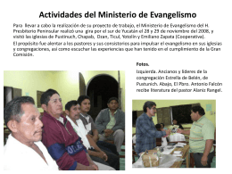 Ministerio de Evangelismo H. Presbiterio Peninsular