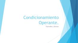 Condicionamiento Operante.