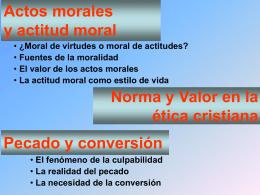 Actos morales y actitud moral