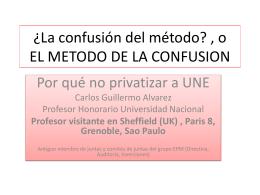 EL METODO DE LA CONFUSION