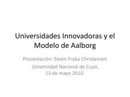 El Modelo de Aalborg y Universidades Innovadoras