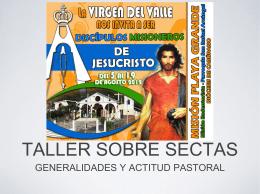 TALLER SOBRE SECTAS - Misioneros Redentoristas