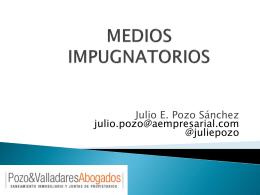 MEDIOS IMPUGNATORIOS