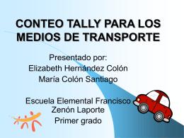 LOS MEDIOS DE TRANSPORTE - .: Alacima :. Alianza para …