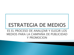 ESTRATEGIA DE MEDIOS - Rescate Estudiantil