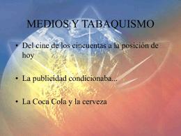 MEDIOS Y TABAQUISMO