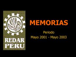 MEMORIAS REDAR PERU - Portal CONDESAN | …