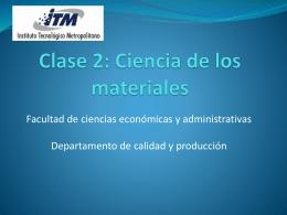 Curso: Ciencia de los materiales