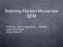 Scanning Electron Microscope SEM - ciencia