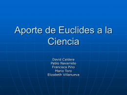 Aporte de Euclides a la Ciencia