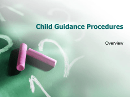 Child Guidance Procedures