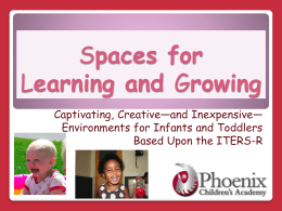 Spaces for Learning and Growing