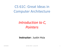 CS 61C: Great Ideas in Computer Architecture (Machine