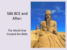 586 BCE and After: