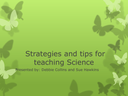 ELL strategies and tips for teaching Science