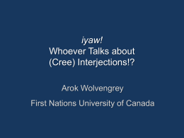 Semantic and Pragmatic Functions in Plains Cree Syntax