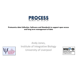 PROCESS – Proteomics data Collection, Software and