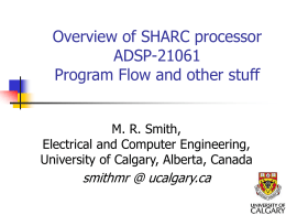 Overview SHARC processor -