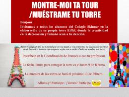 FAIT TA TOUR /CREA TU TORRE