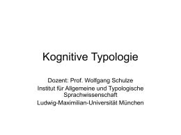 Kognitive Typologie
