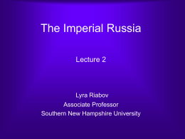 The Imperial Russia
