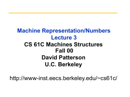 Machine Representation lecture 2