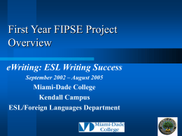 First Year FIPSE Project Overview