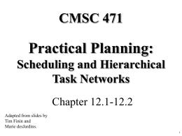Scheduling / HTN PLanning