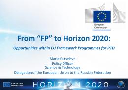 EU-Russia FP7 to H2020