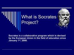 Qu'est ce qu'un projet Socrates?