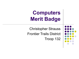 Computers Merit Badge - Boy Scout Troop 780