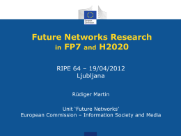 Future Networks Research in FP7 and H2020