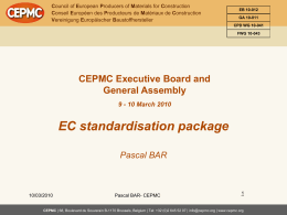 CEPMC and Construction Products