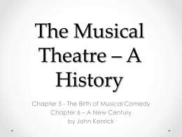 The Musical in America - Emporia State University