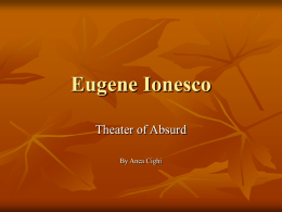 Eugene Ionesco - American University in Bulgaria