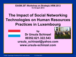 The Impact of Social Networking Technologies on Human