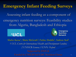 MAMI (Management of Acute Malnutrition in Infants) A