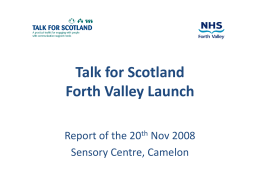 Talk for Scotland Forth Valley launch