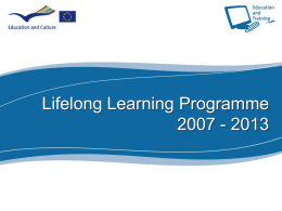 Lifelong Learning Programme 2007