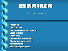 RESIDUOS SOLIDOS - ECHE INGENIEROS S.R