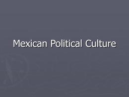 Mexican Political Culture