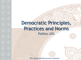 Sample Presentation - National Democratic Institute