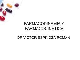 FARMACOLOGIA Y FARMACOCINETICA