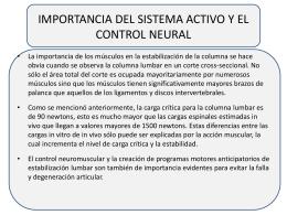 IMPORTANCIA DEL SISTEMA ACTIVO Y EL CONTROL …