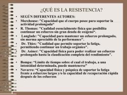 IMPORTANCIA DE LA RESISTENCIA